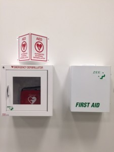 AED and First Aid Kit
